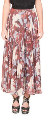 Erdem Nesrine Bird-Print Midi Skirt