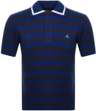 Vivienne Westwood Striped Polo T Shirt Blue