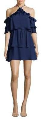 Parker Ruffle Halter Dress