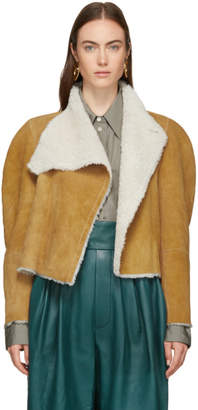 Isabel Marant Reversible Brown Shearling Acacia Wild West Jacket