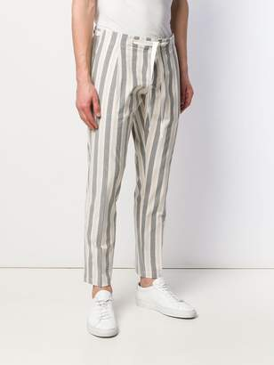 Entre Amis striped tapered trousers