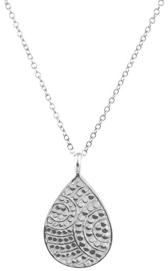 Anna Beck Rajua Small Silver Teardrop Necklace