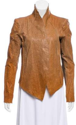 Helmut Lang Leather Buttoned Jacket w/ Tags