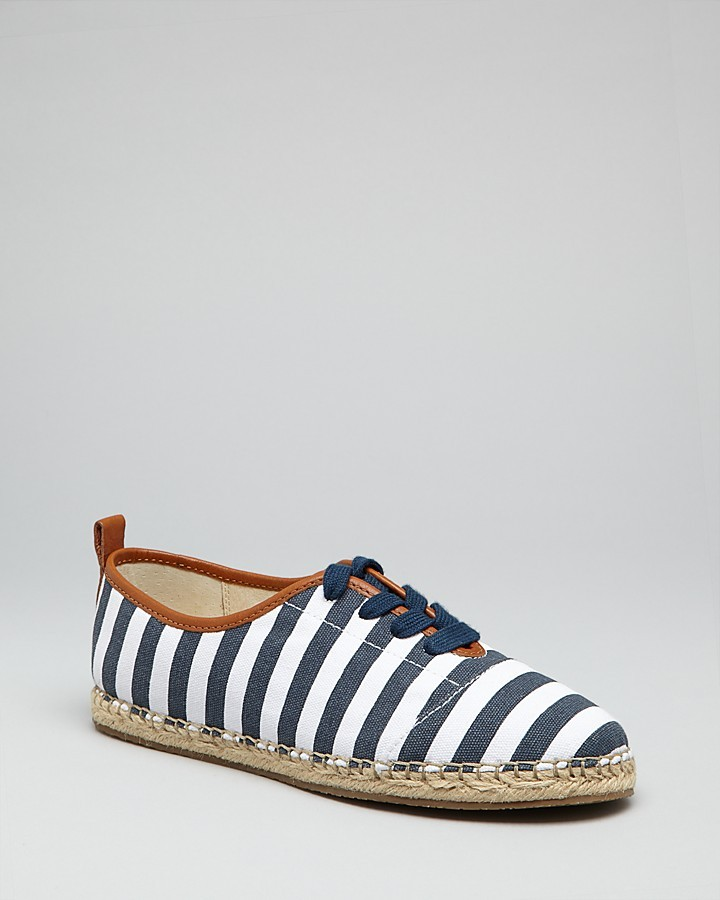 MICHAEL Michael Kors Lace Up Espadrille Oxford Flats - Del Ray