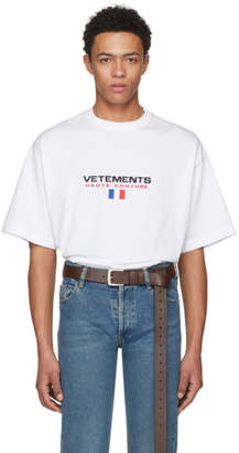 Vetements White Haute Couture Logo T-Shirt