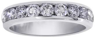 14K White Gold 1.50ct. Diamond Mens Wedding Band Ring Size 9.5