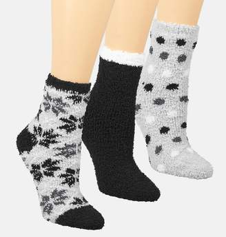 Avenue Grey Dot Cozy Socks 3-Pack