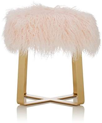 Barneys New York Fur Flat Bar Stool