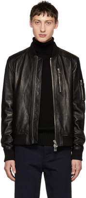 Belstaff Black Leather Clenshaw Jacket