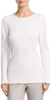 Fabiana Filippi Long-Sleeve Pleated Top