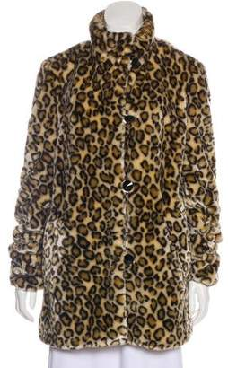 Marc Jacobs Leopard Faux Fur Coat