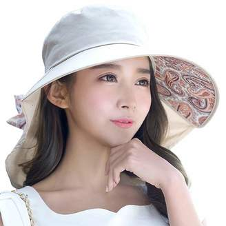 fc55fda97ca Siggi Comhats Womens Wide Brim Summer Sun Flap Cap Hat Neck Cover Cord  Cotton UPF 50