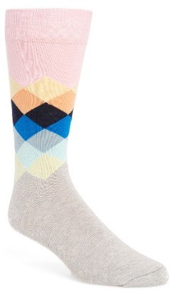 Men's Happy Socks Diamond Socks $12 thestylecure.com