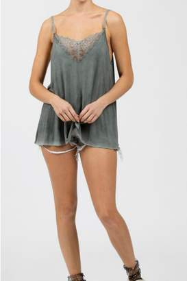 POL Grey Lace Cami