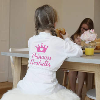 Sparks And Daughters Personalised Children's Princess Dressing Gown