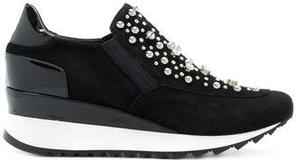 Loriblu crystal-embellished wedge sneakers