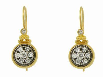 Gurhan Small Round Pave Diamond Earrings