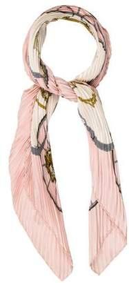 Hermes Springs Silk Plissé Scarf