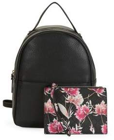 Nanette Lepore Nanette By Mini Dome Faux Leather Backpack With Pouch