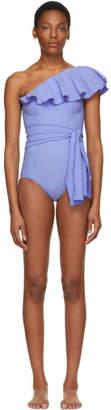 Lisa Marie Fernandez Blue Arden Flounce Swimsuit