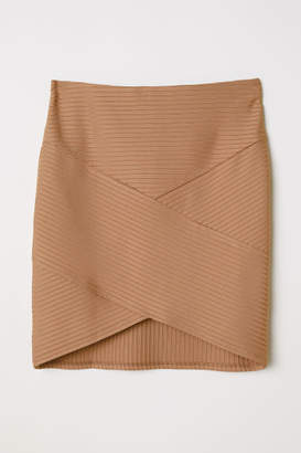 H&M Fitted Skirt - Beige