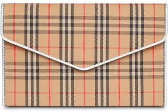 Burberry Medium 1983 Check and Leather Envelope Pouch