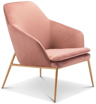 Apt2B Broyles Arm Chair PINK VELVET