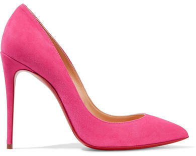 Christian Louboutin - Pigalle Follies 100 Suede Pumps - Pink
