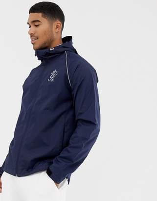 Gym King hooded windbreaker in navy