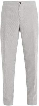 Ermenegildo Zegna Pin-striped cotton trousers