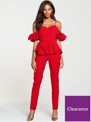 Very Ruffle Jumpsuit - Red