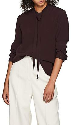 The Row Women's Tipet Crepe Blouse - Brown
