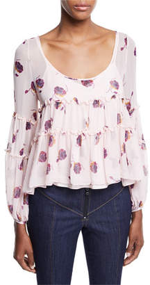 Cinq à Sept Tumbling Jasmin Scoop-Neck Blouse