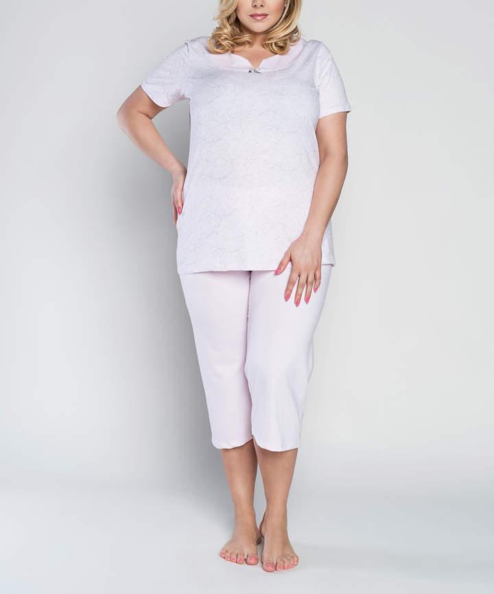 Pink Zenobia Pajama Set - Women & Plus