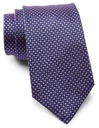 BOSS Checkered Silk Tie