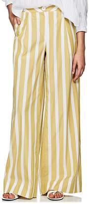 Thierry Colson Women's Lou Lou Striped Cotton Poplin Pants