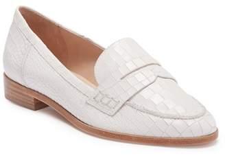Schutz Dora Croc Embossed Leather Penny Loafer