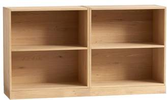 Pottery Barn Teen Stack Me Up Small Bookcase Set, White Oak