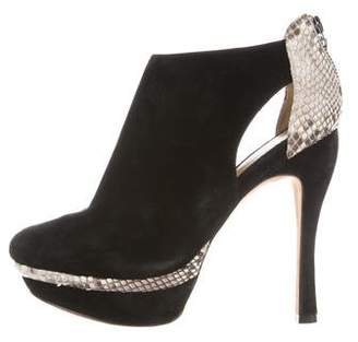 Alexandre Birman Suede Round-Toe Ankle Boots