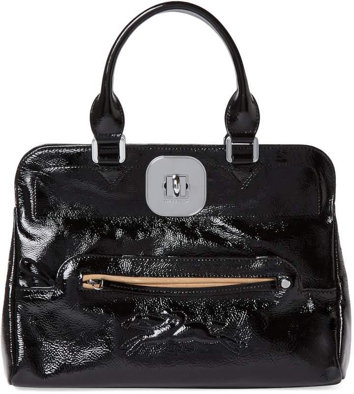 Longchamp Women's Gatsby Medium Patent Leather Convertible Tote - BLACK - STYLE