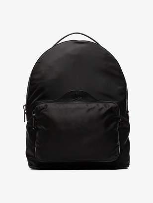 Christian Louboutin black Backloubi leather trimmed backpack
