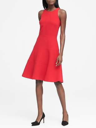 Banana Republic Petite Stretch Racerback Fit-and-Flare Dress