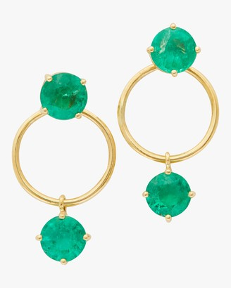 Yi Collection Emerald Double Happiness Earrings