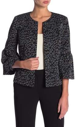Kasper Knit Bell Sleeve Jacket