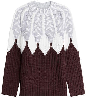 Peter Pilotto Wool Intarsia Knit Pullover