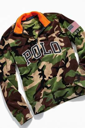 Polo Ralph Lauren Camo Half-Zip Mock Neck Sweatshirt