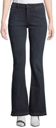 DL1961 Premium Denim Bridget Instasculpt Mid-Rise Boot-Cut Jeans with Released Hem