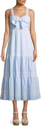 Jonathan Simkhai Seersucker Maxi Coverup Dress