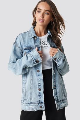 Cheap Monday Upsize Jacket Trash Metal Jacket Blue