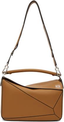 Loewe Tan Medium Puzzle Bag